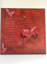 Connection an original poem on canvas from poempieces.com in red