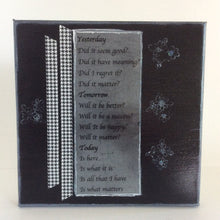 Yesterday is an original poem on canvas from poempieces.com in black