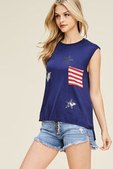 CLEARANCE-Star Spangled Top