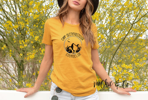 Camp  QUITYERBITCHEN Gold Tee
