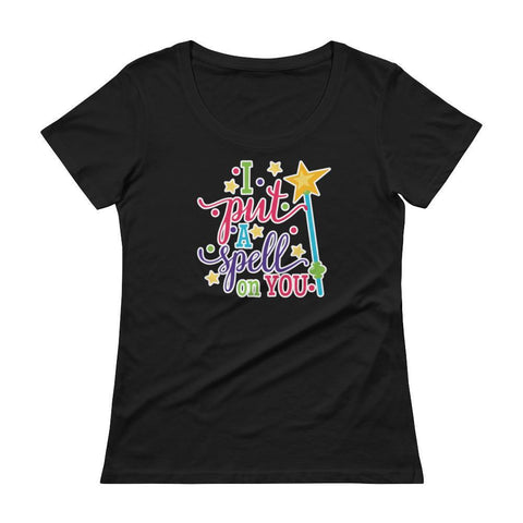 Tee Vision Shop Black / XS I Put A Spell On You Halloween Ladies' Scoopneck T-Shirt