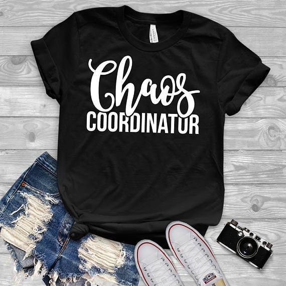Tee Vision Shop Chaos Coordinator Mom Teacher Gift T-Shirt