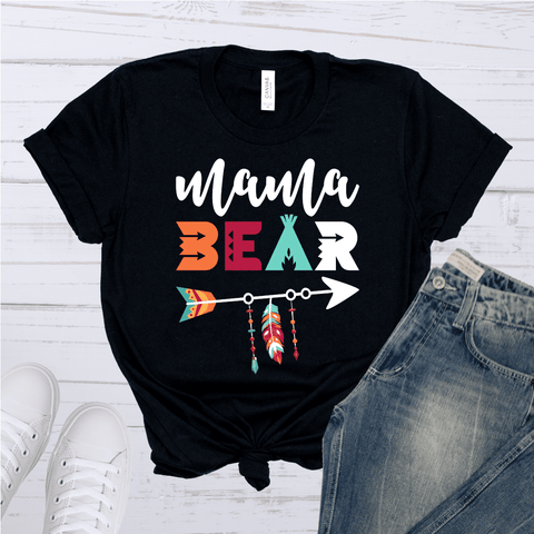 Tee Vision Shop Mama Bear Short-Sleeve T-Shirt