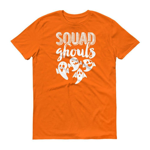 Tee Vision Shop Mandarin Orange / S Squad Ghouls Funny Halloween Ghosts Short sleeve t-shirt