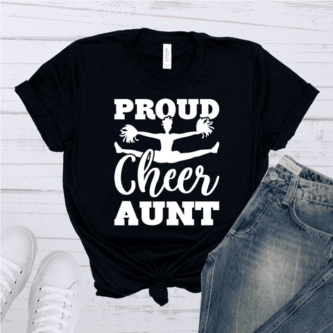Tee Vision Shop Proud Cheer Aunt Short-Sleeve Unisex T-Shirt