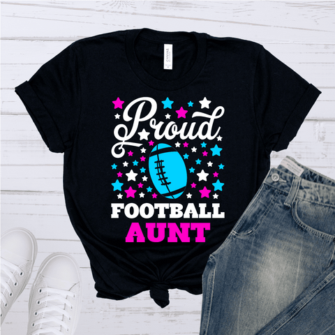Tee Vision Shop Proud Football Aunt Short-Sleeve Unisex T-Shirt