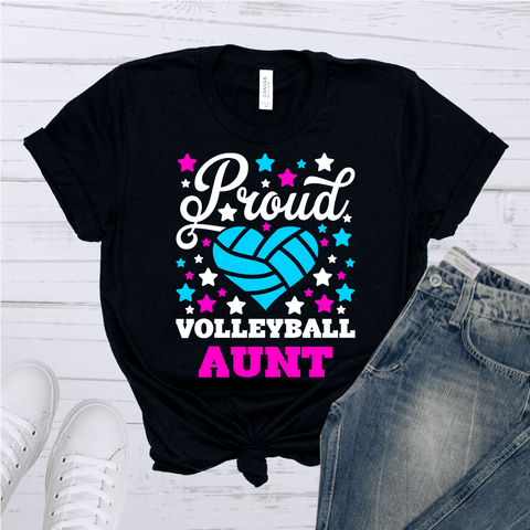 Tee Vision Shop Proud Volleyball Aunt Short-Sleeve Unisex T-Shirt