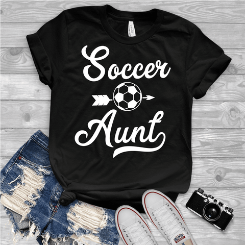 Tee Vision Shop Soccer Aunt Short-Sleeve Unisex T-Shirt