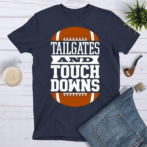 Tee Vision Shop Tailgates and Touchdowns Football T-Shirt