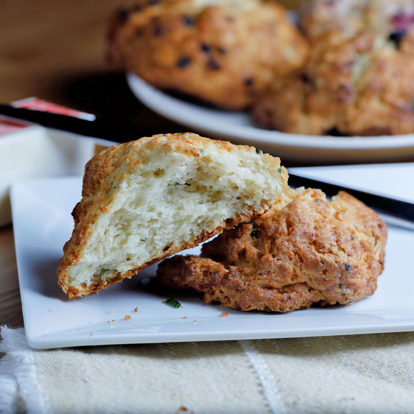 Cheddar Chive Scone from Noe Valley Bakery