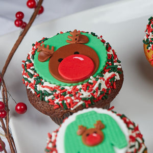 Christmas LARGE Chocolate Cupcake