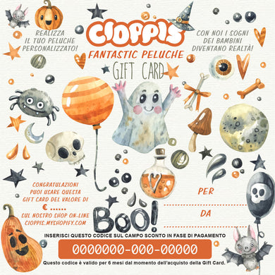 Cioppis Gift Card Halloween Colors
