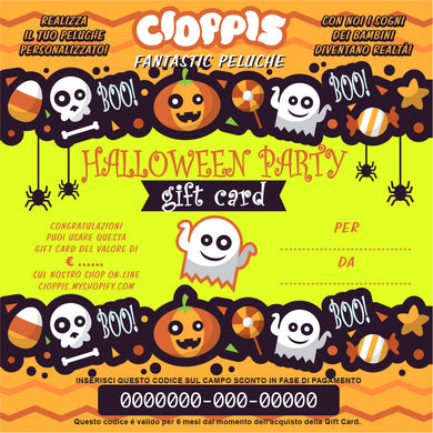 Cioppis Gift Card Halloween Party