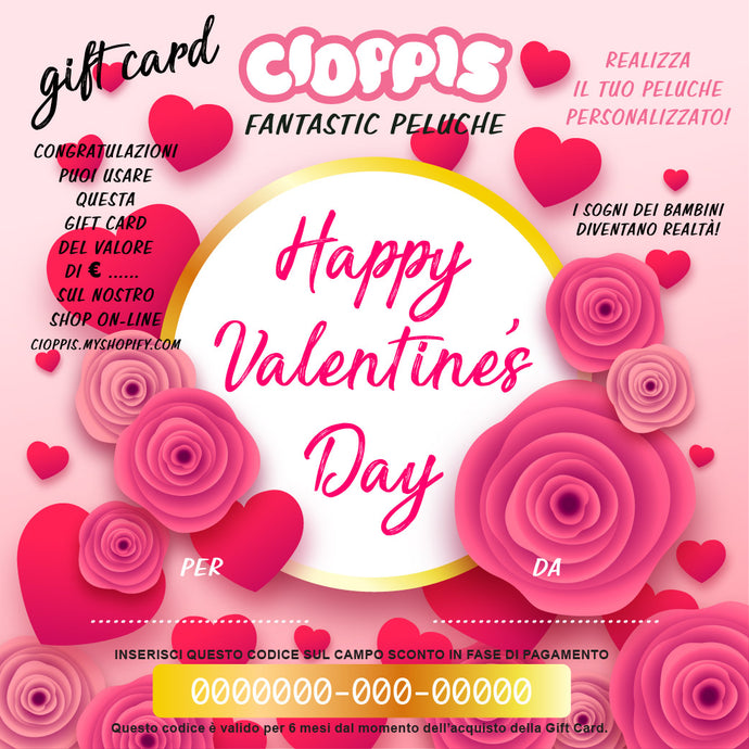 Cioppis Gift Card Happy Valentine