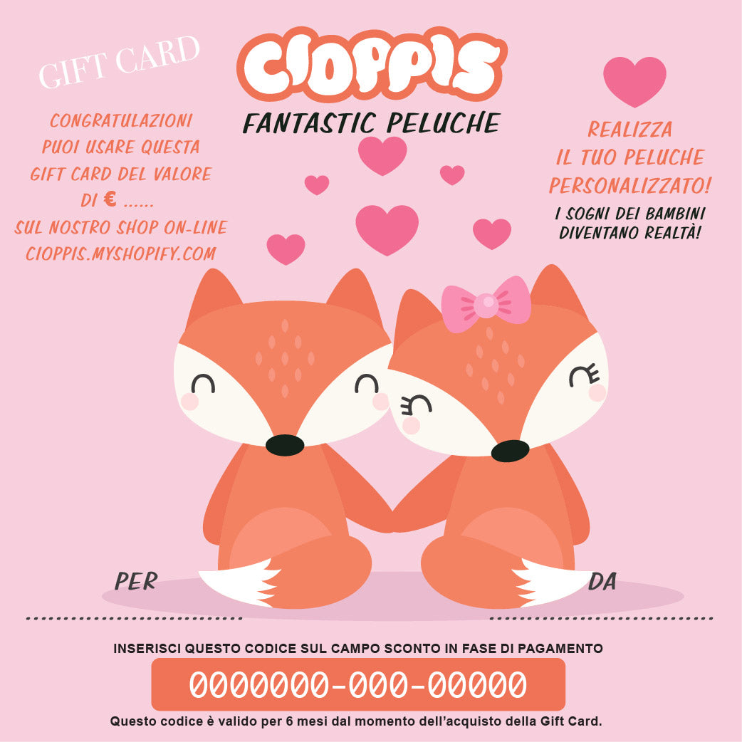 Cioppis Gift Card Fox Love