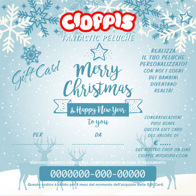 Cioppis Gift Card Snow Natale