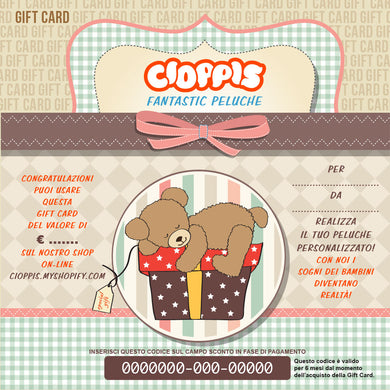 Cioppis Gift Card Teddy Bear
