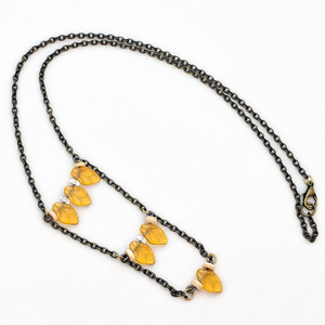 Leaves of Amber Necklace