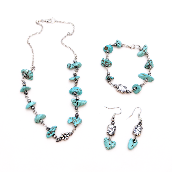 Floral Turquoise Set