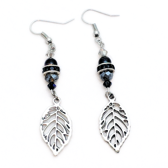 Ebony Swarovski Earrings