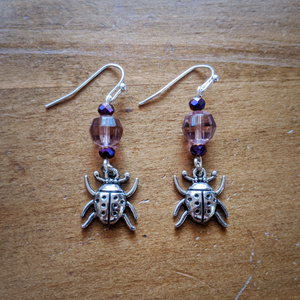 Royal Ladybug Earrings