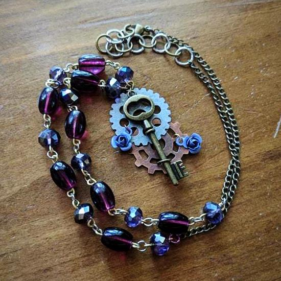 Royal Steampunk Key Necklace