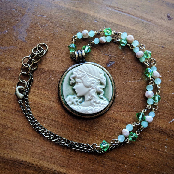 Spring Cameo Necklace