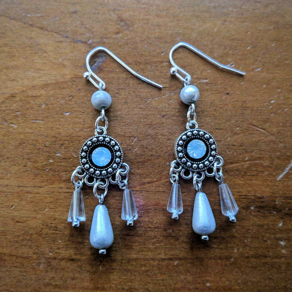 Ivory & Crystal Boudoir Earrings