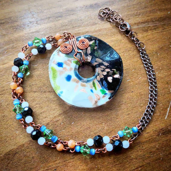 Special Catseye Glass Necklace