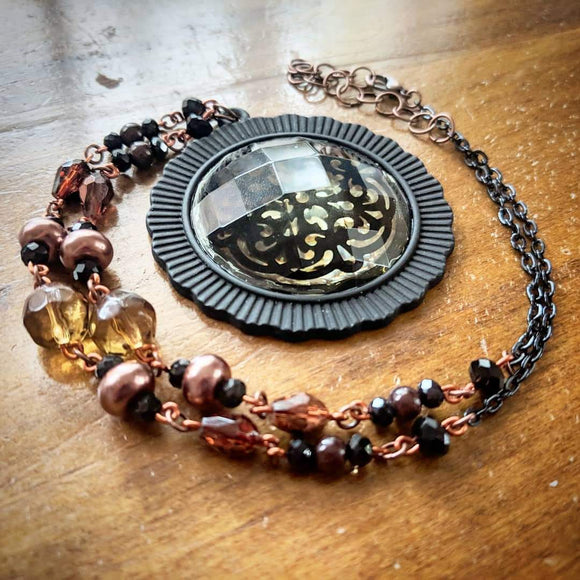 Black & Copper Necklace