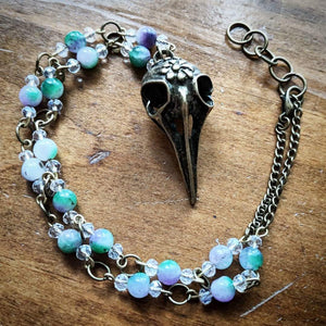 Dreamy Bird Skull Necklace