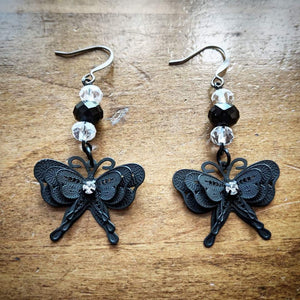 Gothic Flutterbyes Earrings