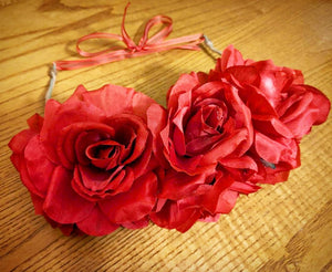 Valentine's Roses Flower Crown