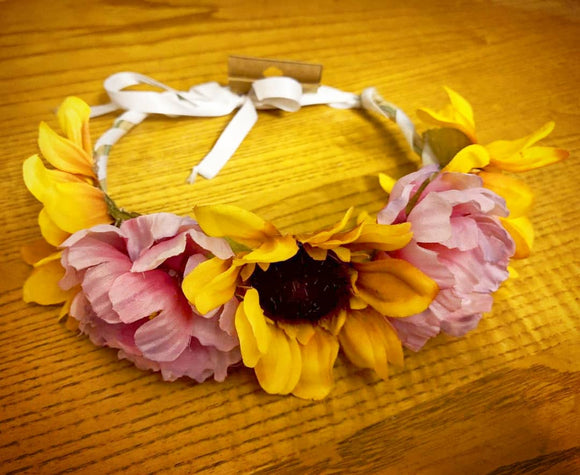 Poppy and Daisy Flower Crown