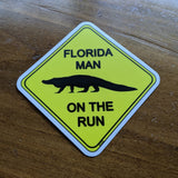 FLMOTR: Gator Crossing Sign - Sticker