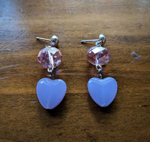 Babydoll Hearts in Pink Earrings