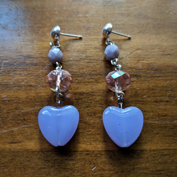 Babydoll Hearts with Pink Tiers Earrings