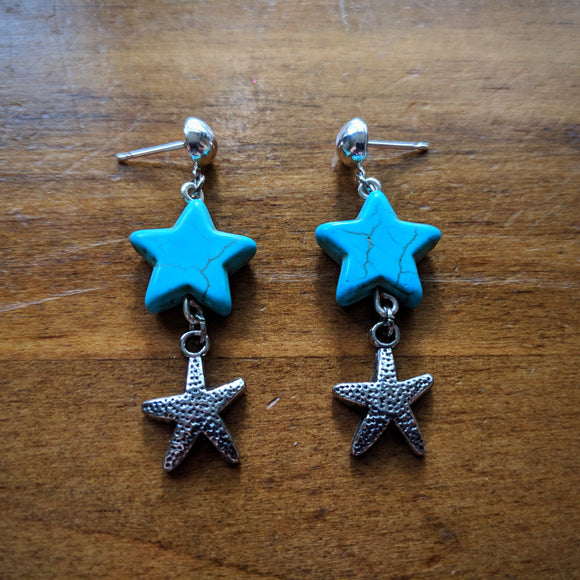Turquoise Sea Star Earrings