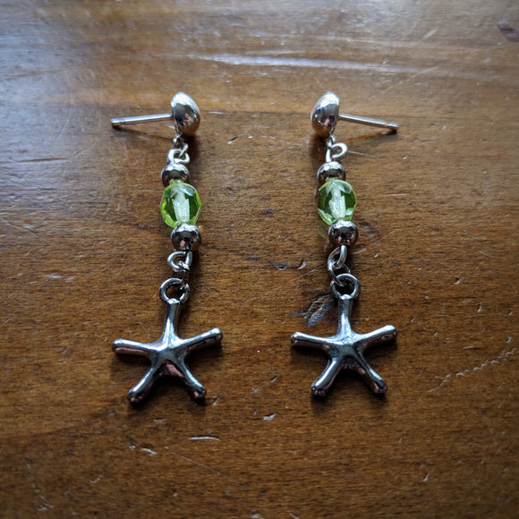 Lime Sea Star Earrings
