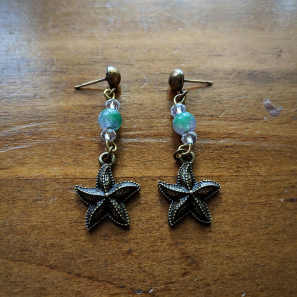 Jade Sea Star Earrings
