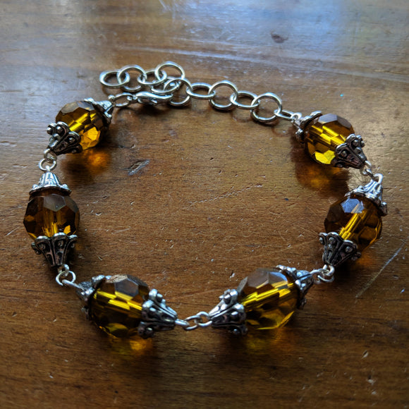 Antique Crystal Bracelet