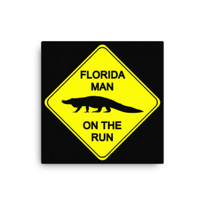 FLMOTR: Gator Crossing Sign - Canvas
