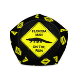 FLMOTR: Gator Crossing Sign -  Bean Bag Chair w/ filling