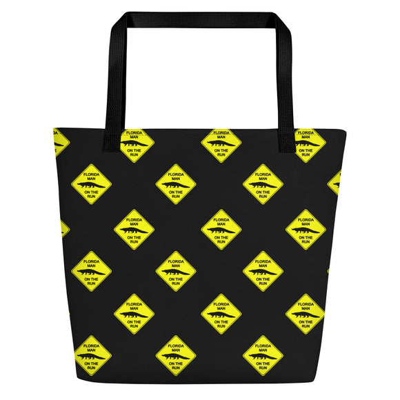 FLMOTR: Gator Crossing Sign - Beach Bag