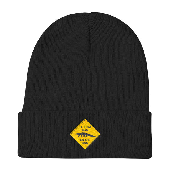 FLMOTR: Gator Crossing Sign - Knit Beanie