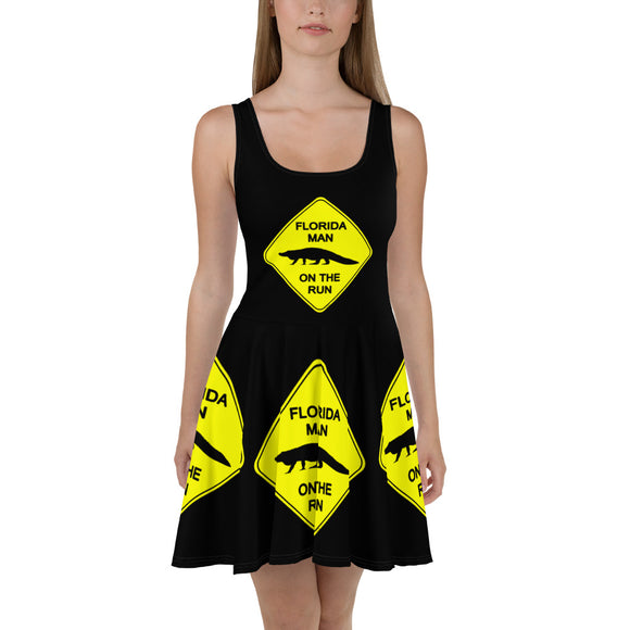 FLMOTR: Gator Crossing Sign - Skater Dress