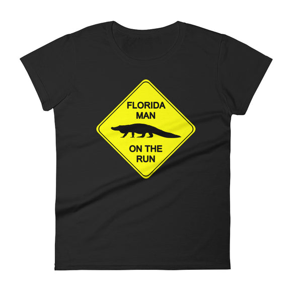 FLMOTR: Gator Crossing Sign - Fitted t-shirt