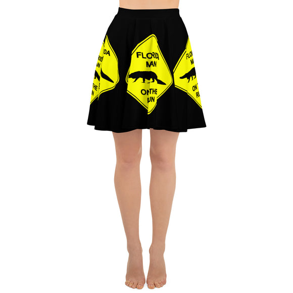 FLMOTR: Gator Crossing Sign - Skater Skirt