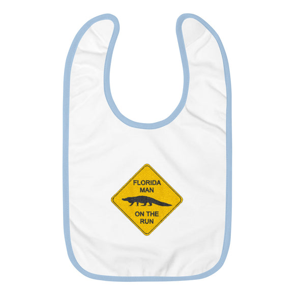 FLMOTR: Gator Crossing Sign - Baby Bib