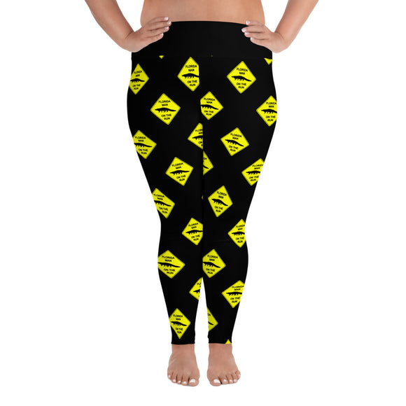 FLMOTR: Gator Crossing Sign - Plus Size Leggings